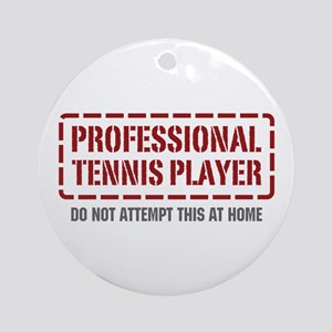 Professional Tennis Player Ornament (Round)