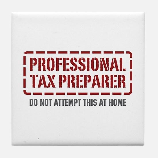 Professional Tax Preparer Tile Coaster