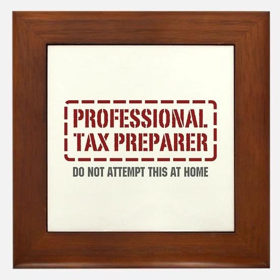 Professional Tax Preparer Framed Tile