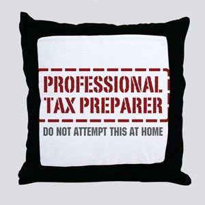 Professional Tax Preparer Throw Pillow