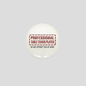 Professional Table Tennis Player Mini Button