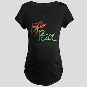 Grow Peace Maternity Dark T-Shirt