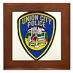 Union City Police Framed Tile