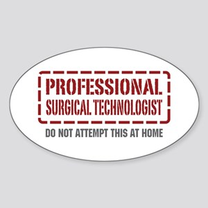 Professional Surgical Technologist Oval Sticker