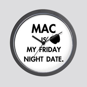 Date With Mac Apperal and Gear: Wall Clock