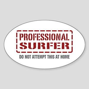 Professional Surfer Oval Sticker