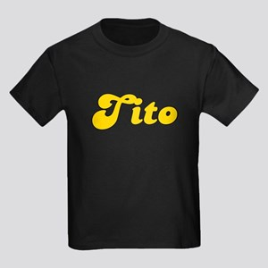 Retro Tito (Gold) Kids Dark T-Shirt