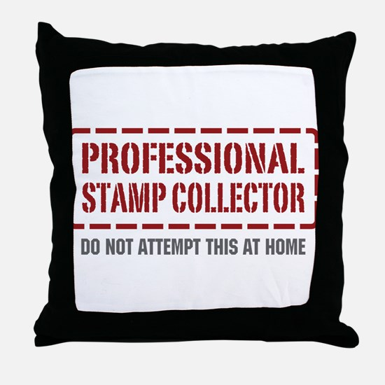 Professional Stamp Collector Throw Pillow
