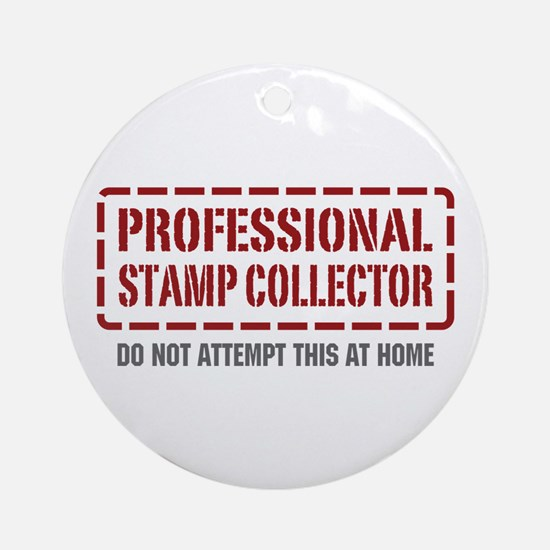 Professional Stamp Collector Ornament (Round)