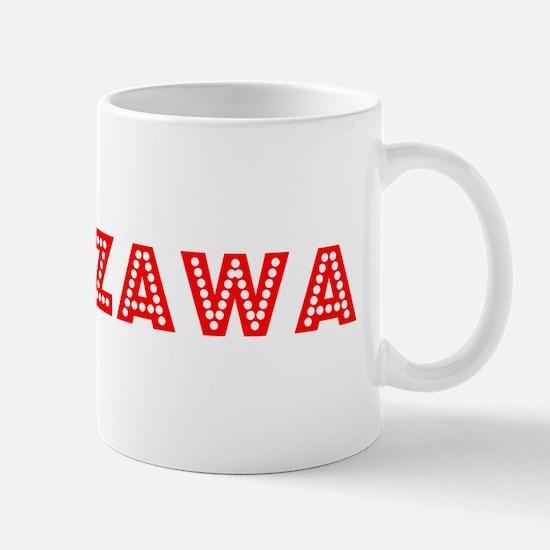 Retro Warszawa (Red) Mug