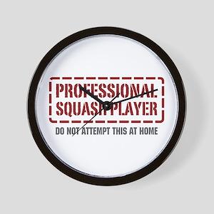 Professional Squash Player Wall Clock