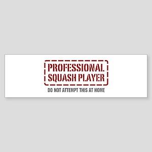 Professional Squash Player Bumper Sticker