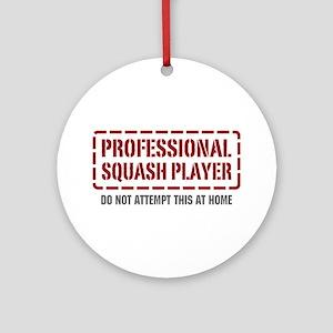 Professional Squash Player Ornament (Round)