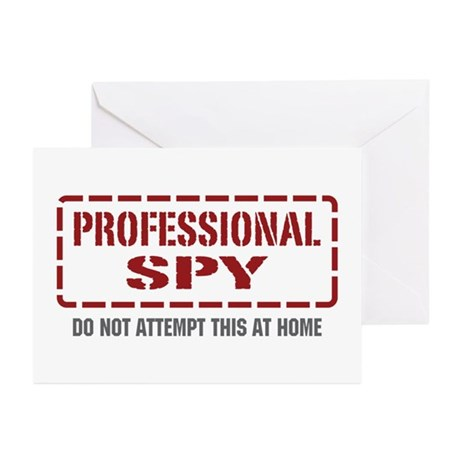 Professional Spy Greeting Cards (Pk of 10)