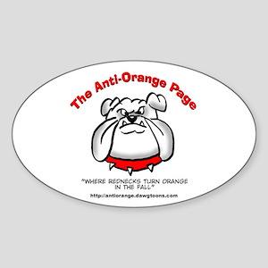 The Anti-Orange Page Oval Sticker