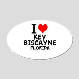 I Love Key Biscayne, Florida Wall Decal