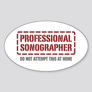 Professional Sonographer Oval Sticker