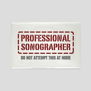 Professional Sonographer Rectangle Magnet