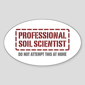 Professional Soil Scientist Oval Sticker