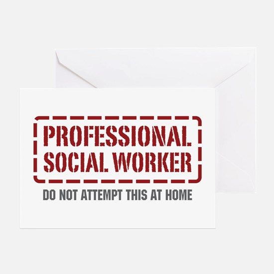 Professional Social Worker Greeting Card