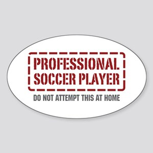 Professional Soccer Player Oval Sticker