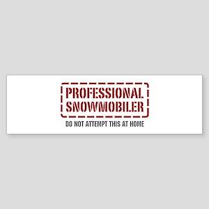 Professional Snowmobiler Bumper Sticker