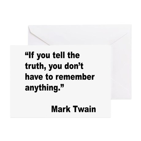 Mark Twain Truth Quote Greeting Cards (Pk of 20)