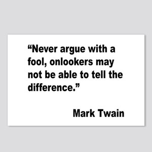 Mark Twain Fool Quote Postcards (Package of 8)