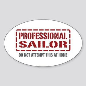 Professional Sailor Oval Sticker