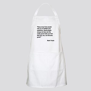 Mark Twain Great People Quote BBQ Apron
