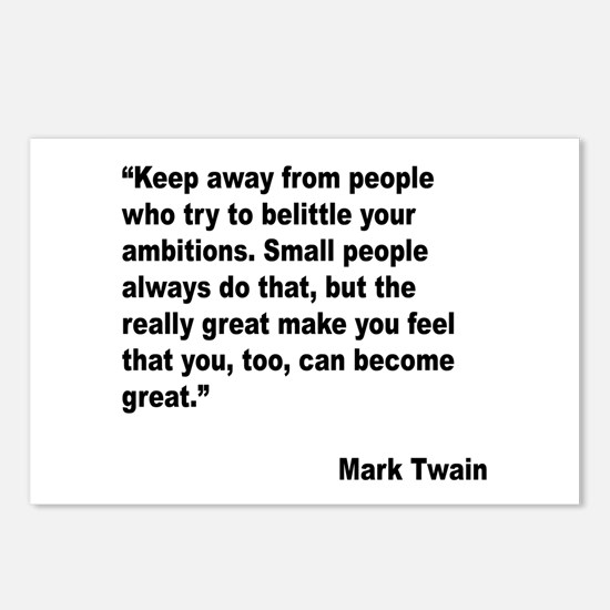 Mark Twain Great People Quote Postcards (Package o