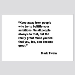 Mark Twain Great People Quote Large Poster