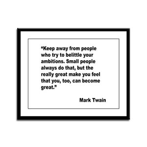 Mark Twain Great People Quote Framed Panel Print