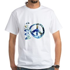 Earth Peace White T-Shirt
