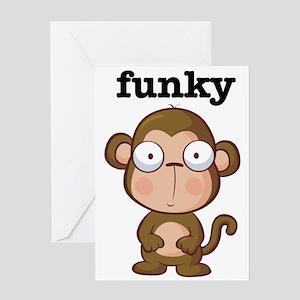 Funky monkey greeting cards cafepress funkymonkey greeting cards m4hsunfo