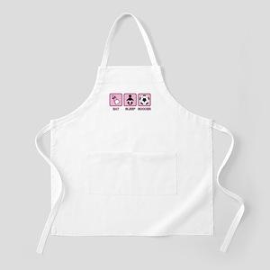 EAT SLEEP SOCCER (baby pink) BBQ Apron