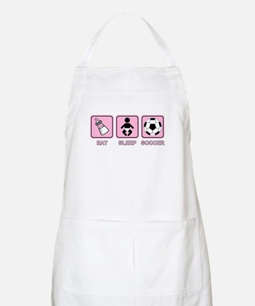 EAT SLEEP SOCCER (baby pink) BBQ Apron