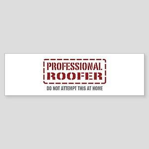 Professional Roofer Bumper Sticker