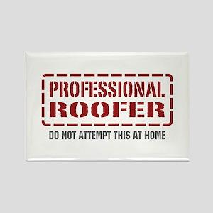 Professional Roofer Rectangle Magnet