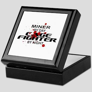 Miner Cage Fighter by Night Keepsake Box