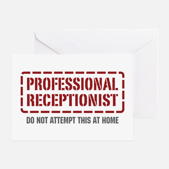 Professional Receptionist Greeting Card