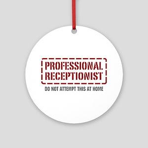 Professional Receptionist Ornament (Round)