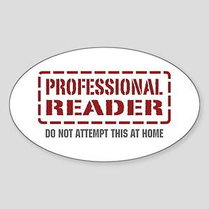 Professional Reader Oval Sticker