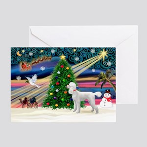 White standard poodle birthday greeting cards cafepress xmasmagicpoodle st w greeting card bookmarktalkfo Gallery