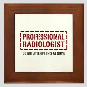 Professional Radiologist Framed Tile
