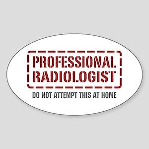 Professional Radiologist Oval Sticker