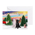 Treat / 2 Poodles (ST) Greeting Cards (Pk of 20)