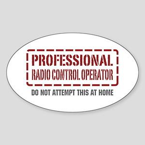 Professional Radio Control Operator Oval Sticker