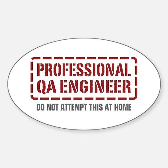 Professional QA Engineer Oval Decal
