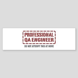 Professional QA Engineer Bumper Sticker